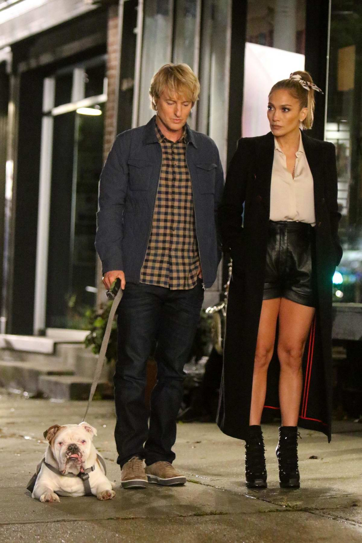Jennifer Lopez and Owen Wilson are seen filming 'Marry Me' in New York City
