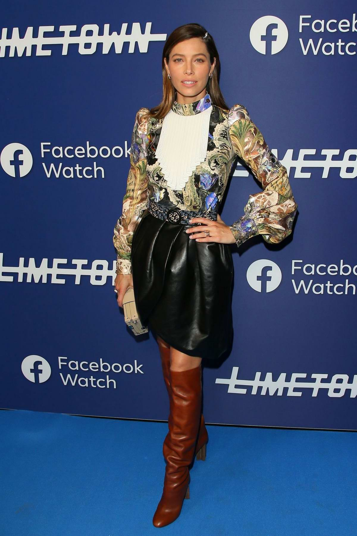 Jessica Biel attends a photocall for Facebook Watch's 'Limetown' at The Hollywood Athletic Club in Los Angeles