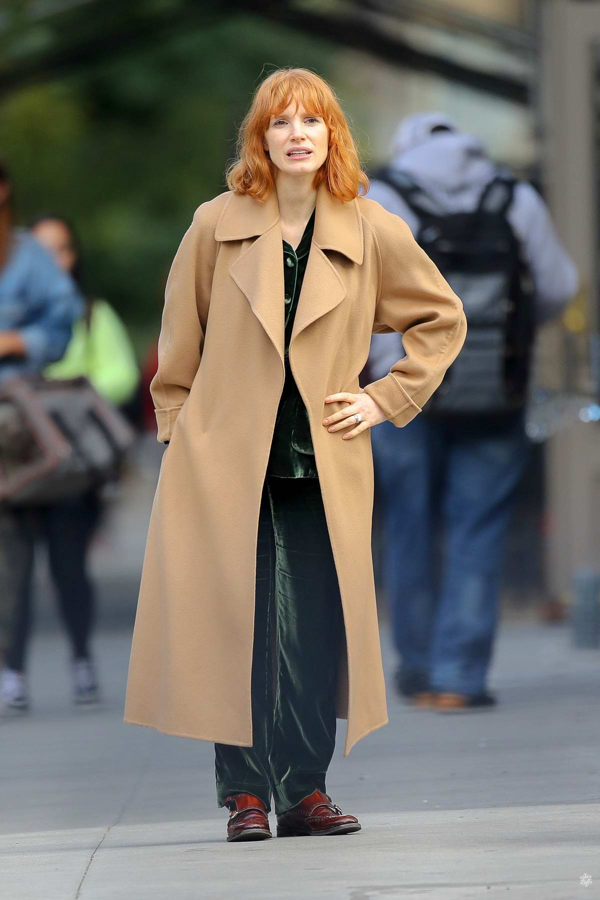 Jessica Chastain goes make-up free while bundling up during solo outing in New York City