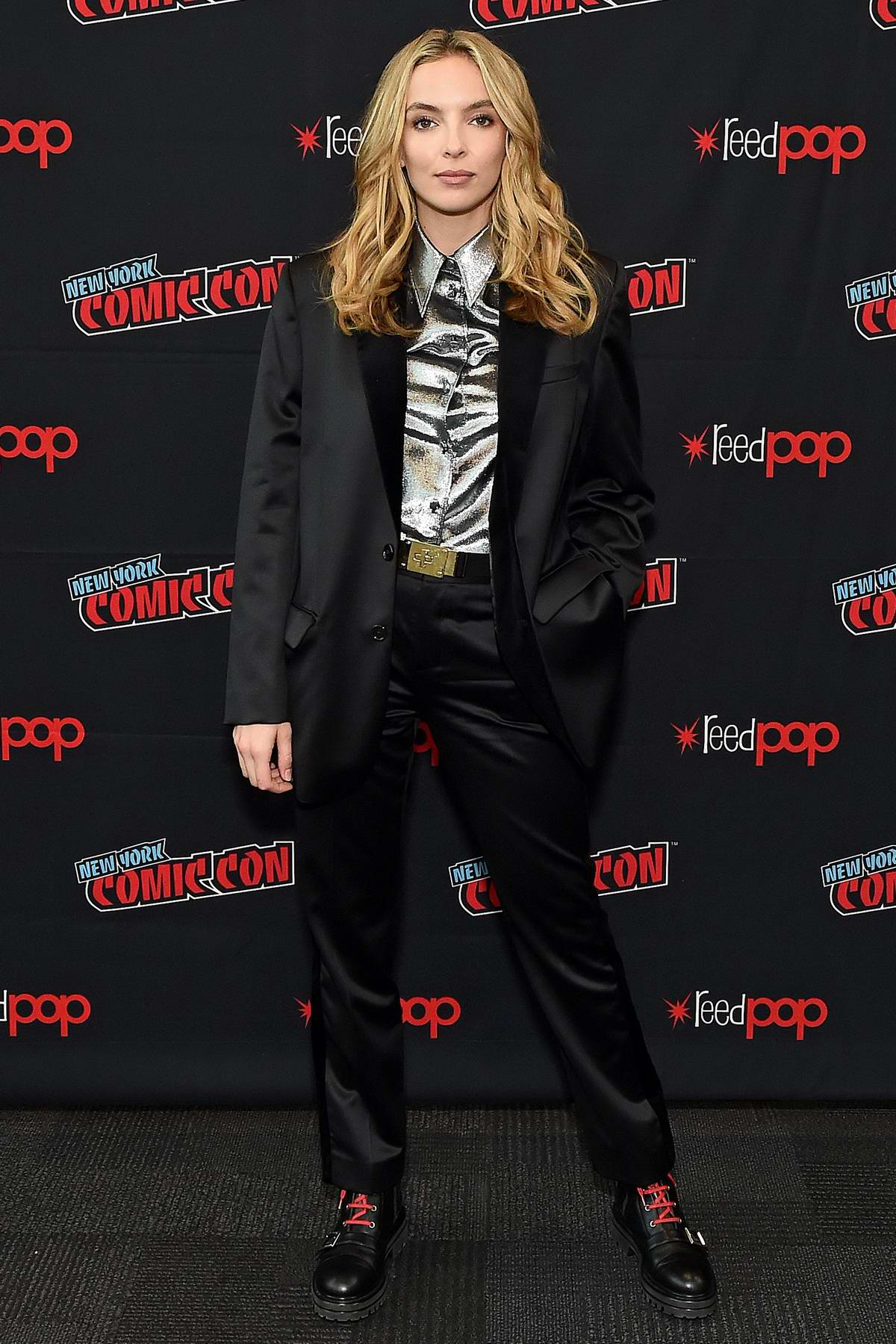 Jodie Comer attends 'Free Guy' panel during 2019 New York Comic Con in New York City