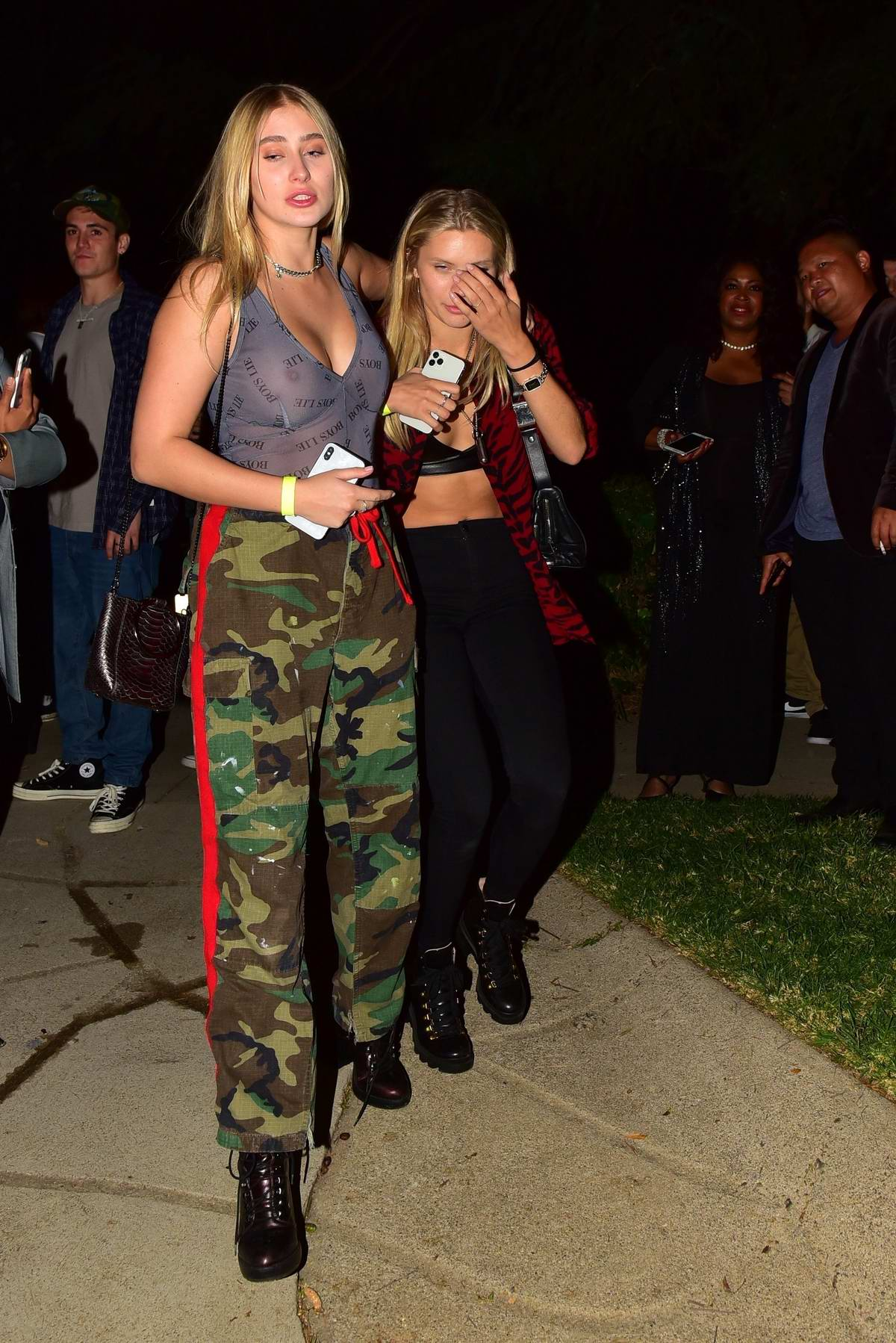 Josie Canseco looked a bit tipsy as she left the Mansion Party with a friend in Beverly Hills, Los Angeles