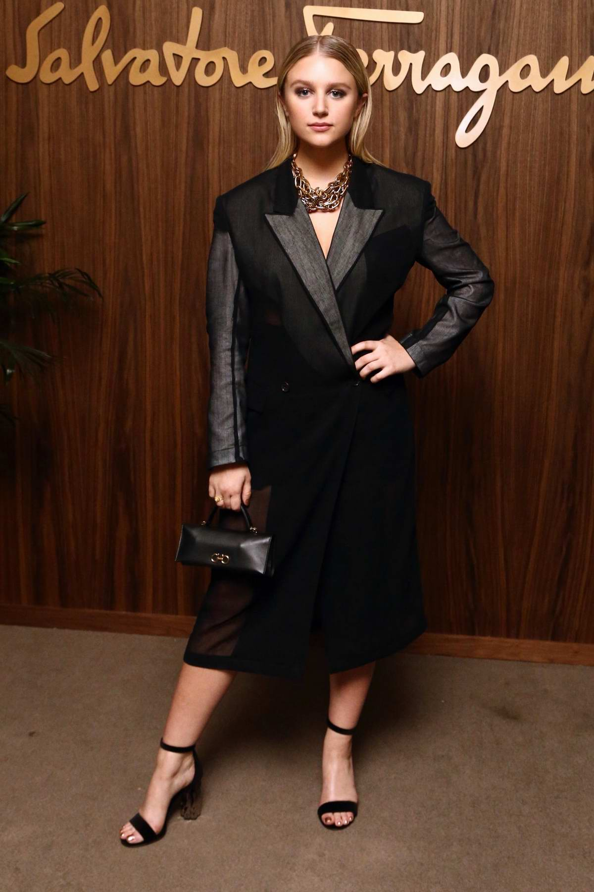 Julia Schlaepfer attends ELLE x Ferragamo Hollywood Rising Party at Sunset Tower in Los Angeles