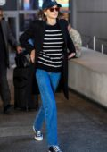 Kaia Gerber dressed casually as she touches down at LAX in Los Angeles