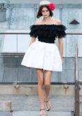 Kaia Gerber walks the runway during the Chanel Womenswear Spring/Summer 2020 show during Paris Fashion Week in Paris, France