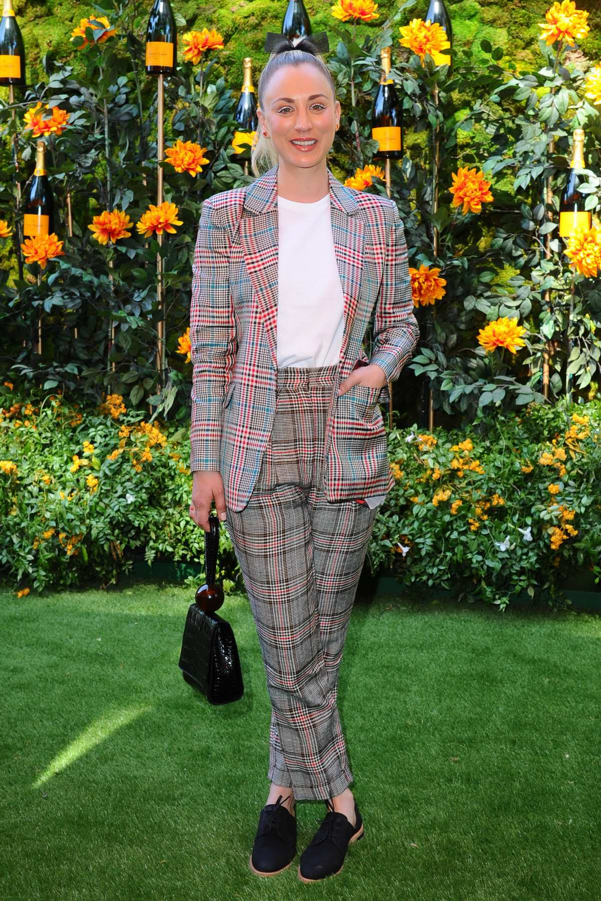 Kaley Cuoco attends the 10th annual Veuve Clicquot Polo Classic at Will Rogers State Park in Los Angeles
