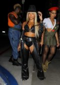 Karrueche Tran dresses as Nancy Callahan for a Halloween party at The Highlight Room in Hollywood, California
