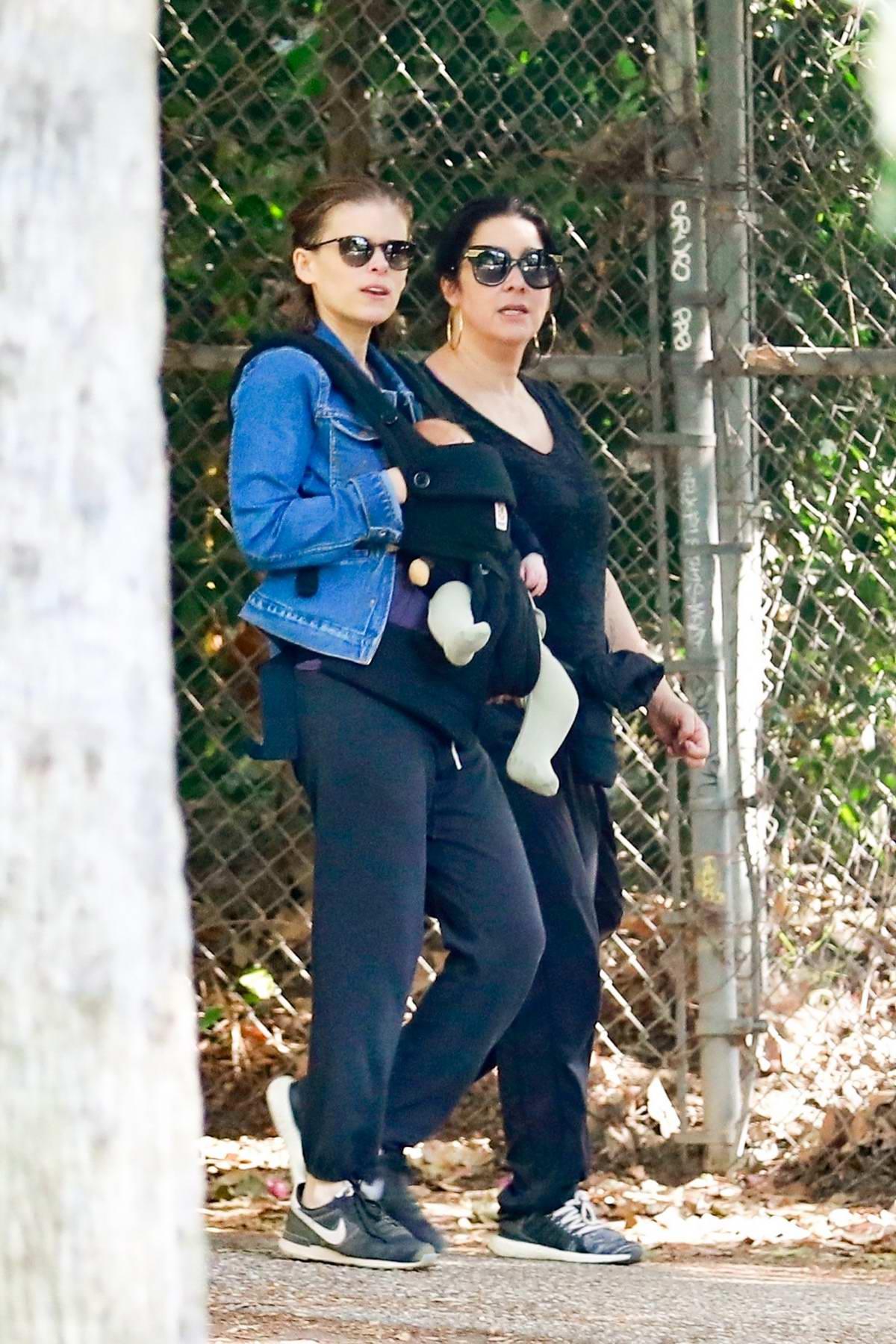 Kate Mara brings her adorable baby girl on hike through Griffith Park in Los Feliz, California