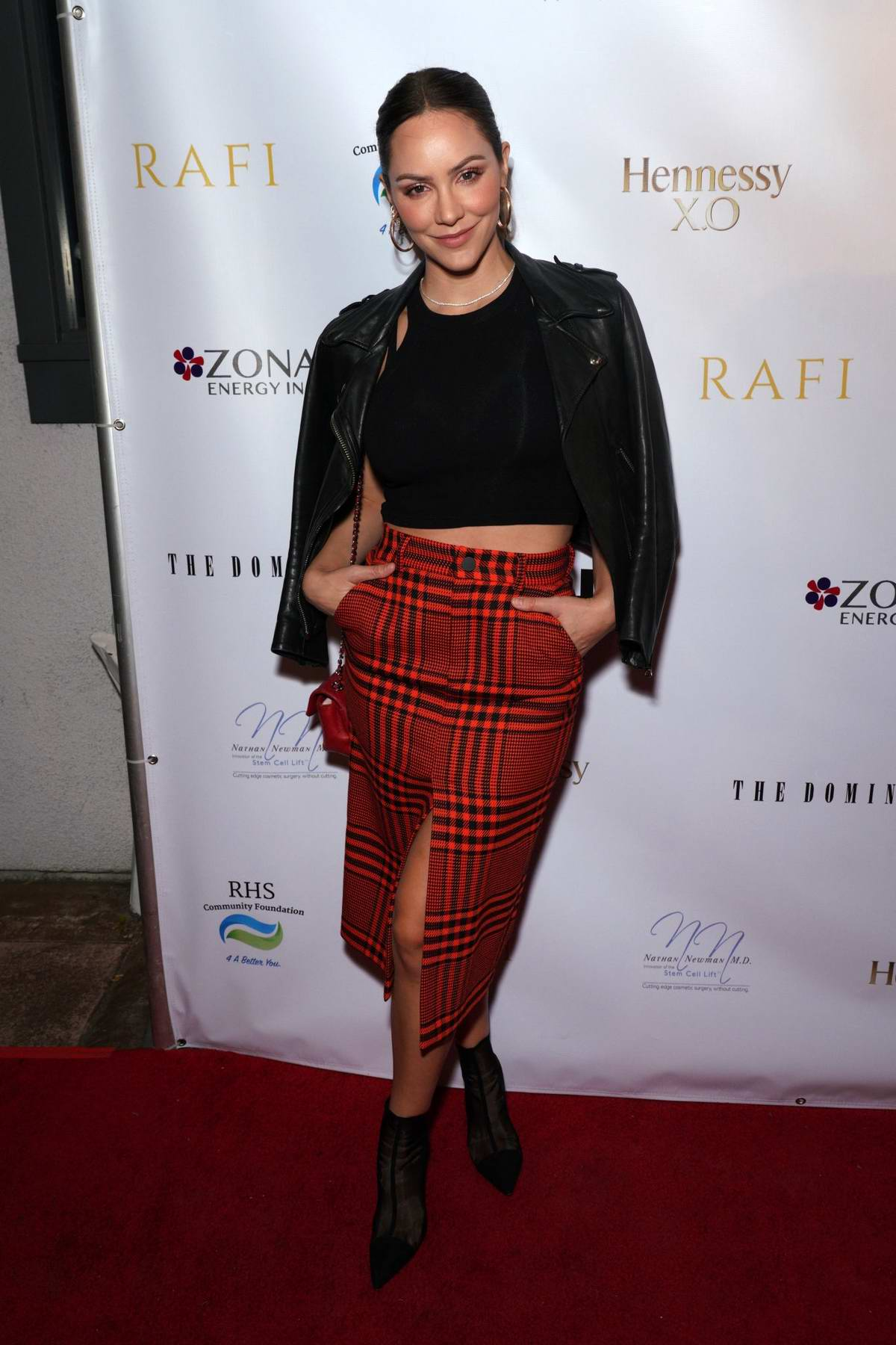 Katharine McPhee attends Gladys Knight's 75th birthday party in Hollywood, California