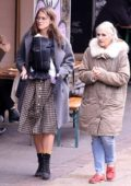 Keira Knightley seen for the first with her newborn baby while out for a stroll with her mother in London, UK
