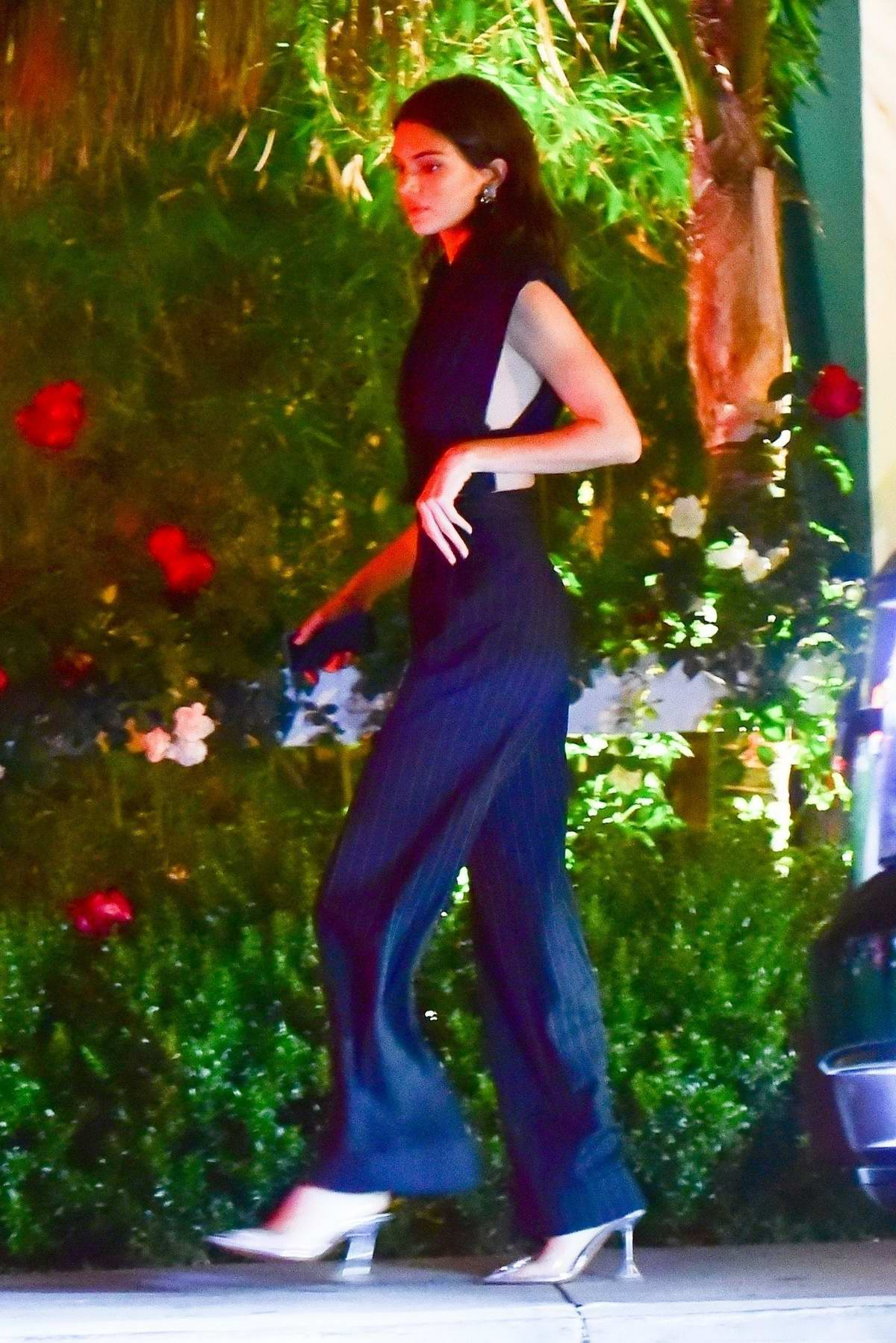 Kendall Jenner spotted during a night out with Fai Khadra at the Bungalow in Santa Monica, California