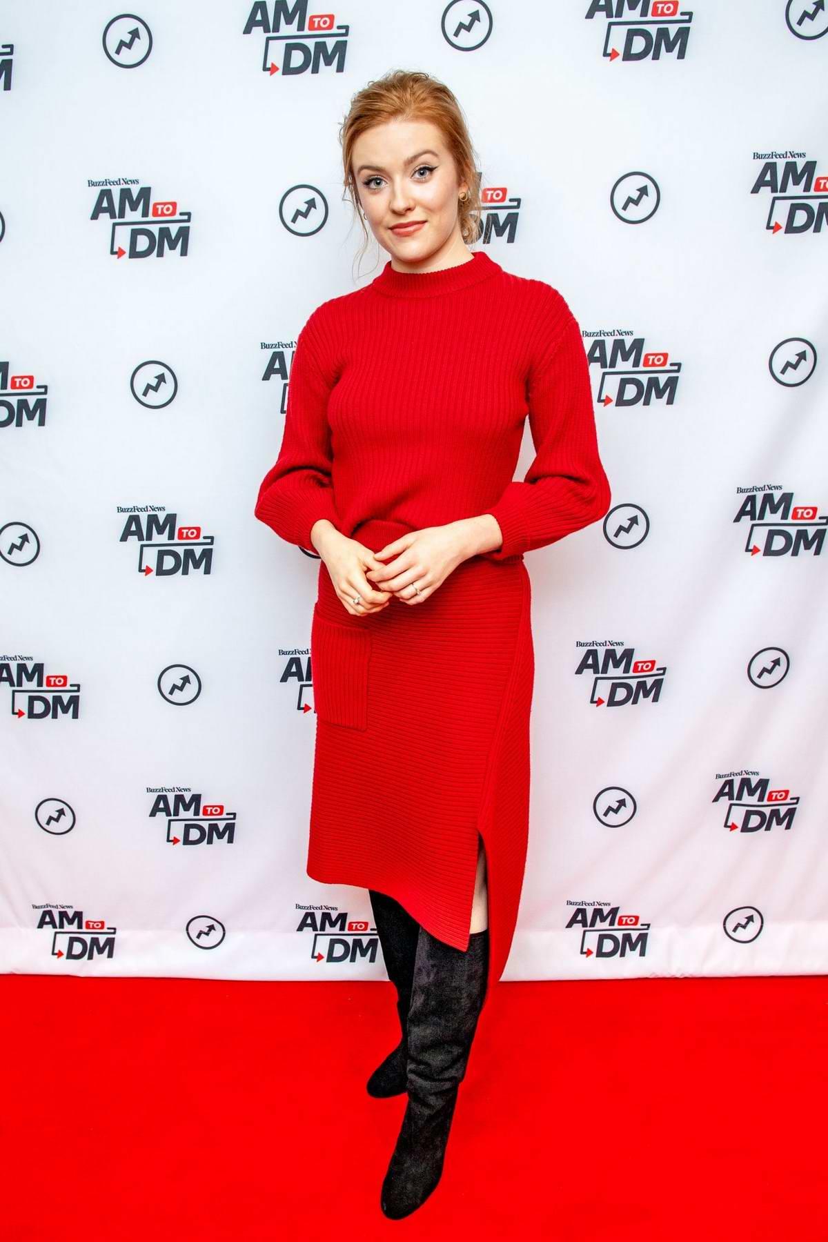 Kennedy McMann promotes her new series 'Nancy Drew' on BuzzFeed's 'AM To DM' in New York City