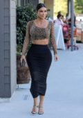 Kim Kardashian shows off her curves as she stops by Ulta Beauty cosmetics store in Calabasas, California