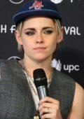 Kristen Stewart attends a 'Seberg' press conference during the 15th Zurich Film Festival at NZZ Lounge in Zurich, Switzerland