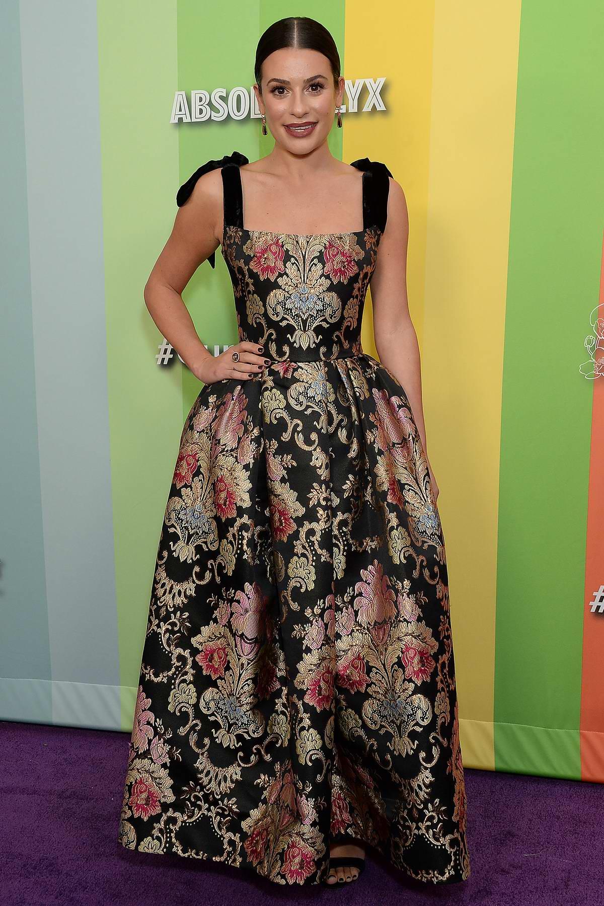 Lea Michele attends the 2019 amfAR Inspiration Gala at Milk Studios in Los Angeles