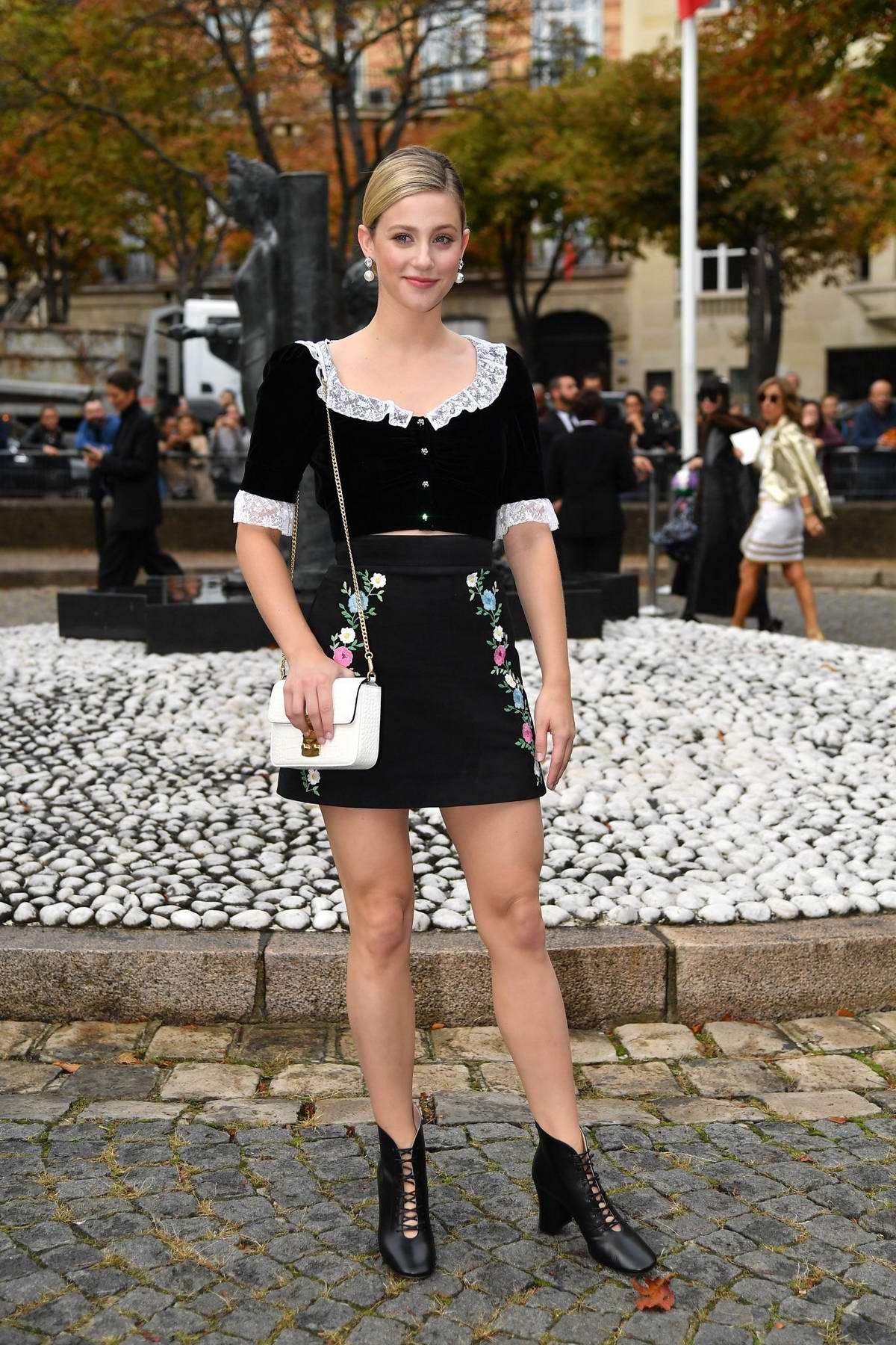 Lili Reinhart attends the Miu Miu Womenswear Spring/Summer 2020 show during Paris Fashion Week in Paris, France
