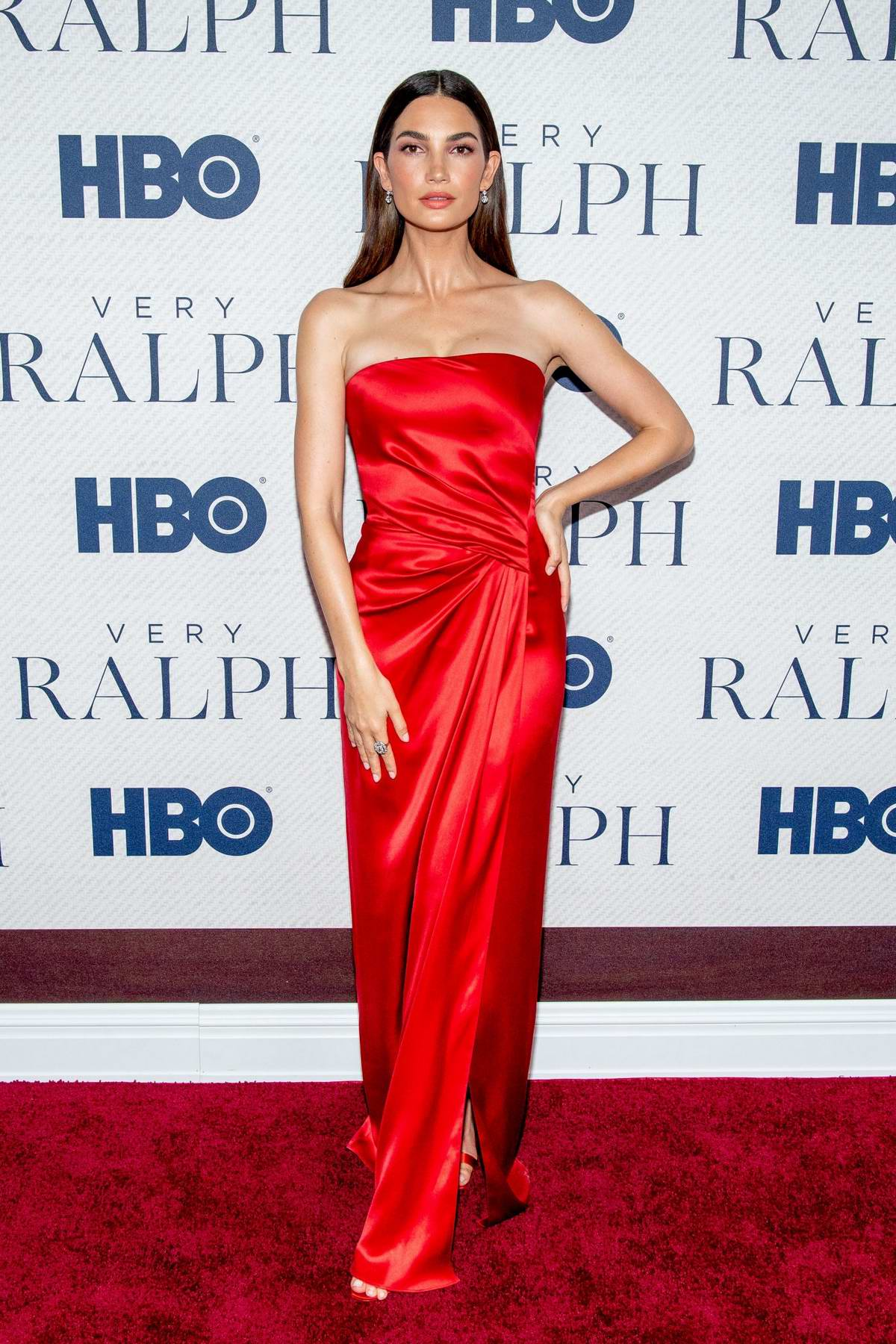 Lily Aldridge attends the World Premiere of HBO's 'Very Ralph' at the Metropolitan Museum of Art in New York City