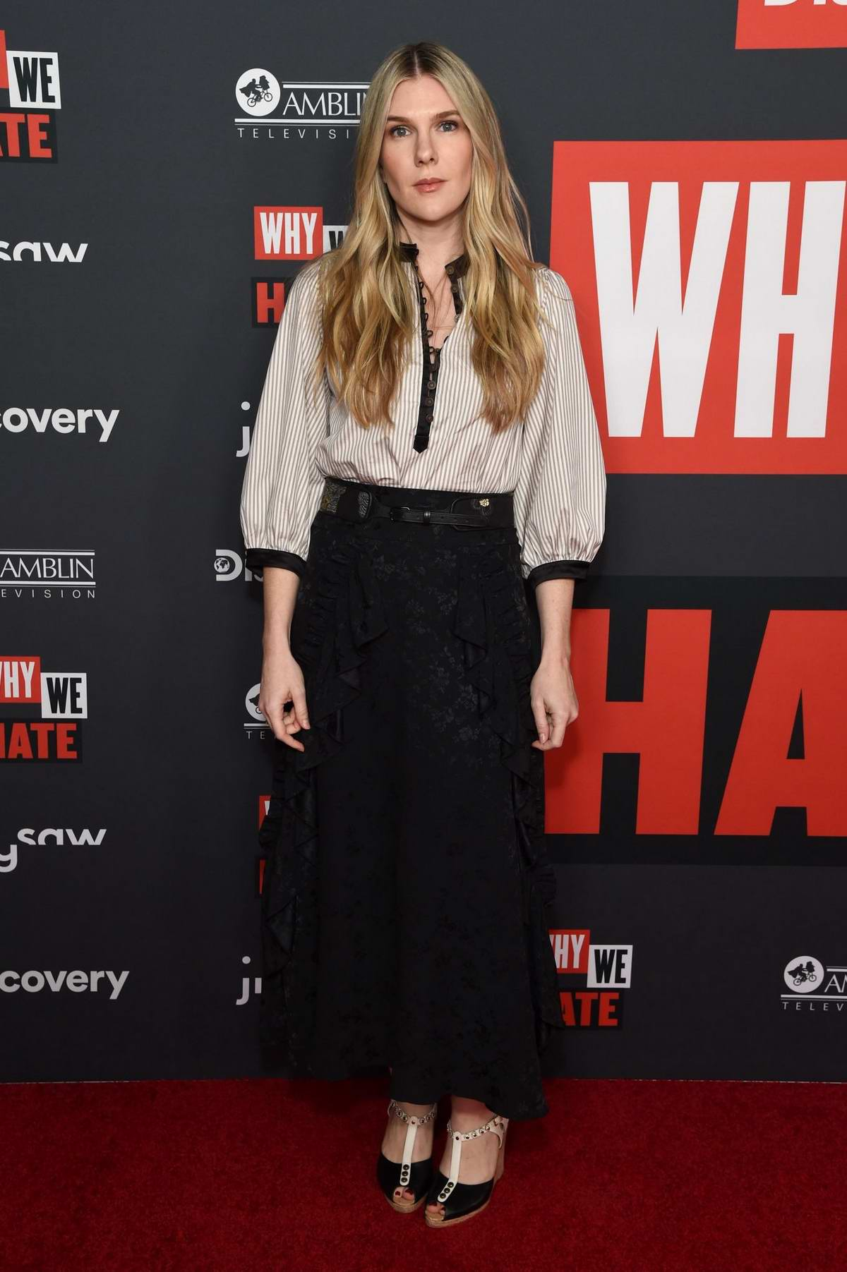Lily Rabe attends the premiere of 'Why We Hate' at Museum Of Tolerance in Los Angeles