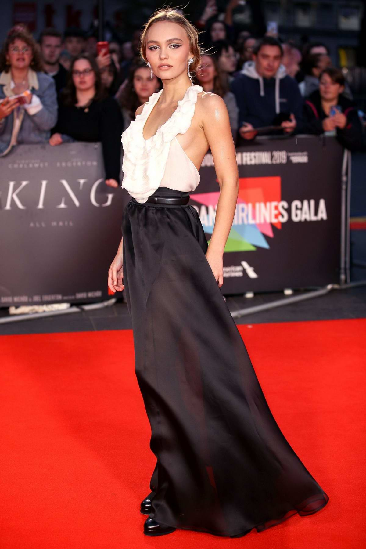 Lily-Rose Depp attends 'The King' UK Premiere during the 63rd BFI London Film Festival in London, UK