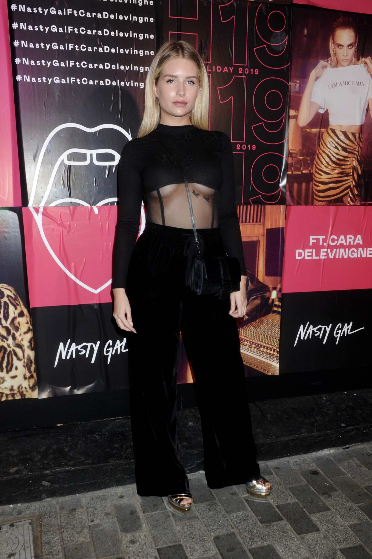 Lottie Moss attends Cara Delevingne x Nasty Gal Launch Party in London, UK