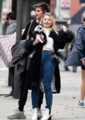 Lottie Moss packs on some PDA with Sam Prince outside Bluebells Restaurant in Chelsea, London, UK