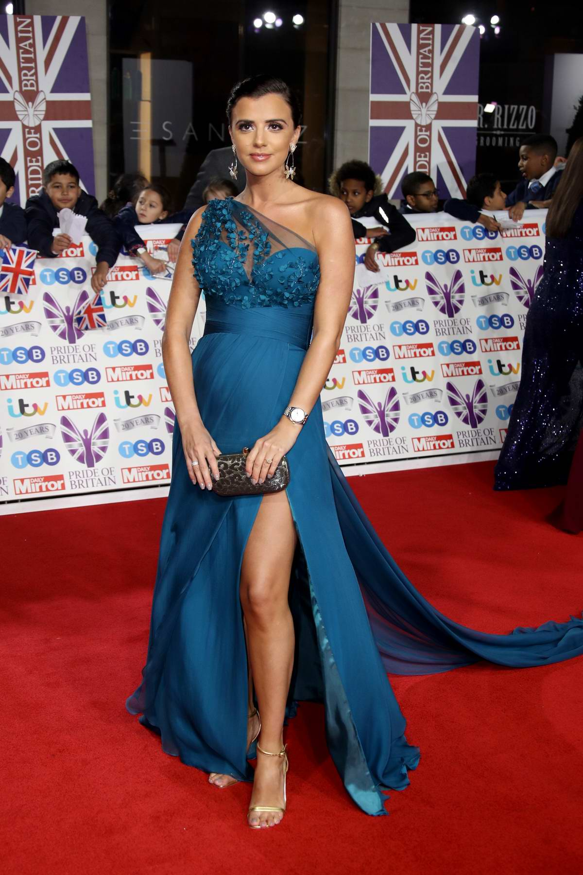 Lucy Mecklenburgh attends the Pride of Britain Awards 2019 at Grosvenor House in London, UK