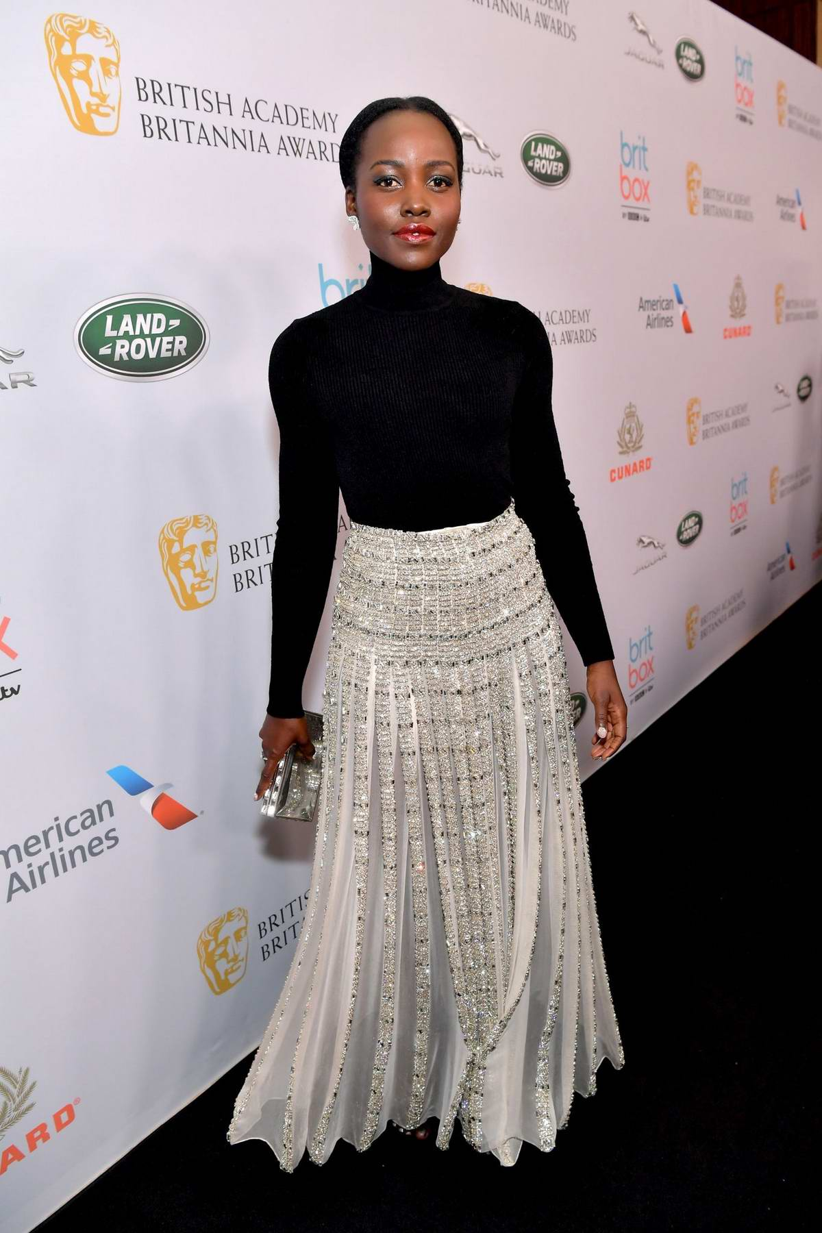 Lupita Nyong'o attends the British Academy Britannia Awards 2019 in Beverly Hills, California