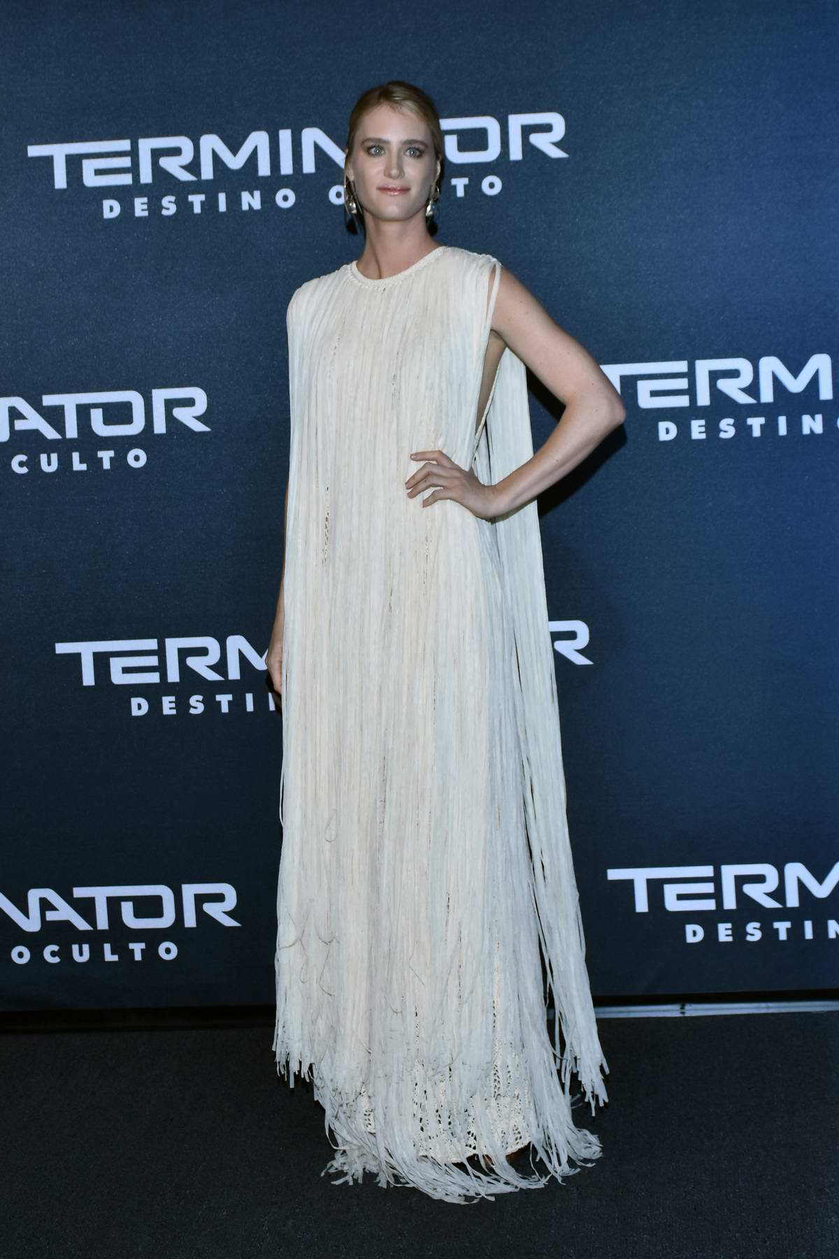 Mackenzie Davis attends the premiere of 'Terminator: Dark Fate' in Mexico City, Mexico