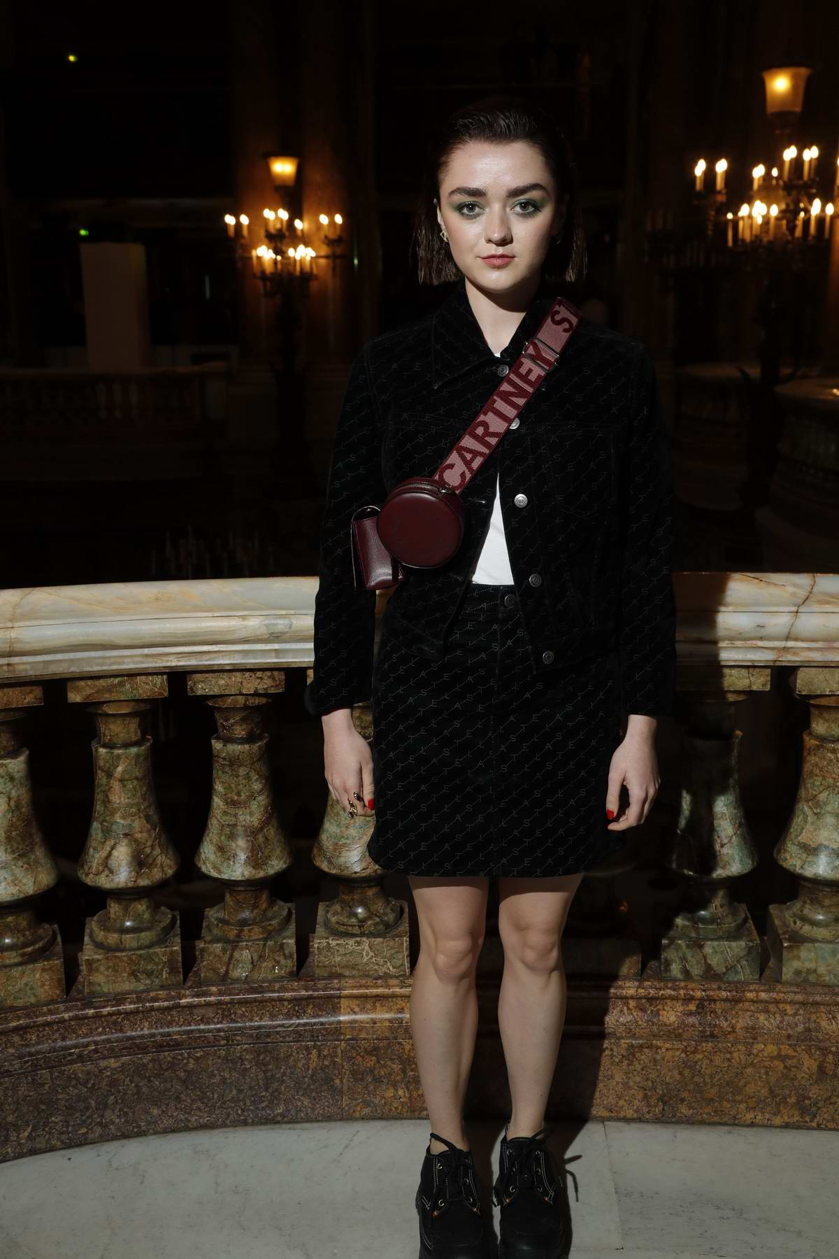 Maisie Williams attends the Givenchy Spring/Summer 2020 show during Paris Fashion Week in Paris, France