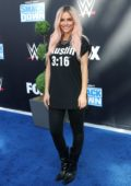 Maria Menounos attends WWE 20th Anniversary Celebration Marking Premiere Of WWE Friday Night SmackDown on FOX in Los Angeles