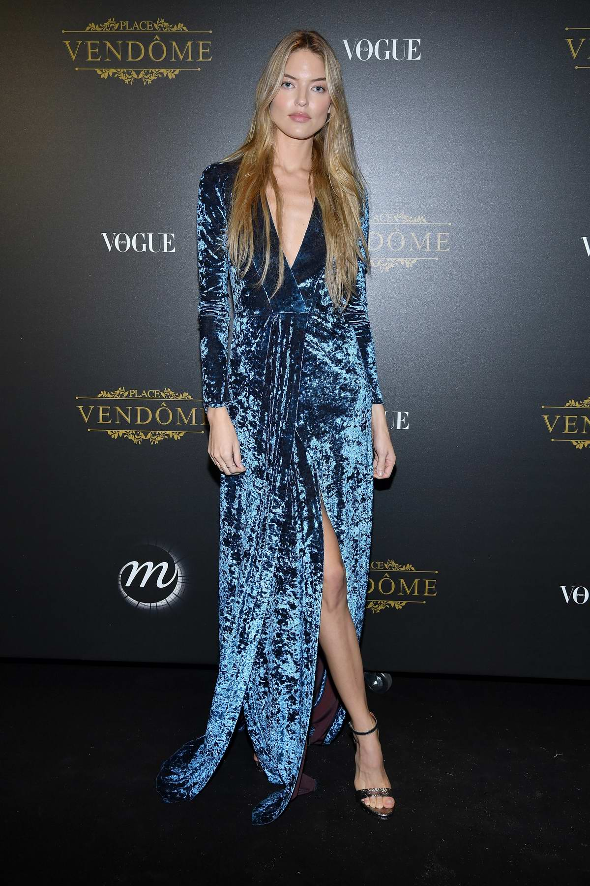 Martha Hunt attends the Vogue x Irving Penn party during Paris Fashion Week SS 2020 in Paris, France