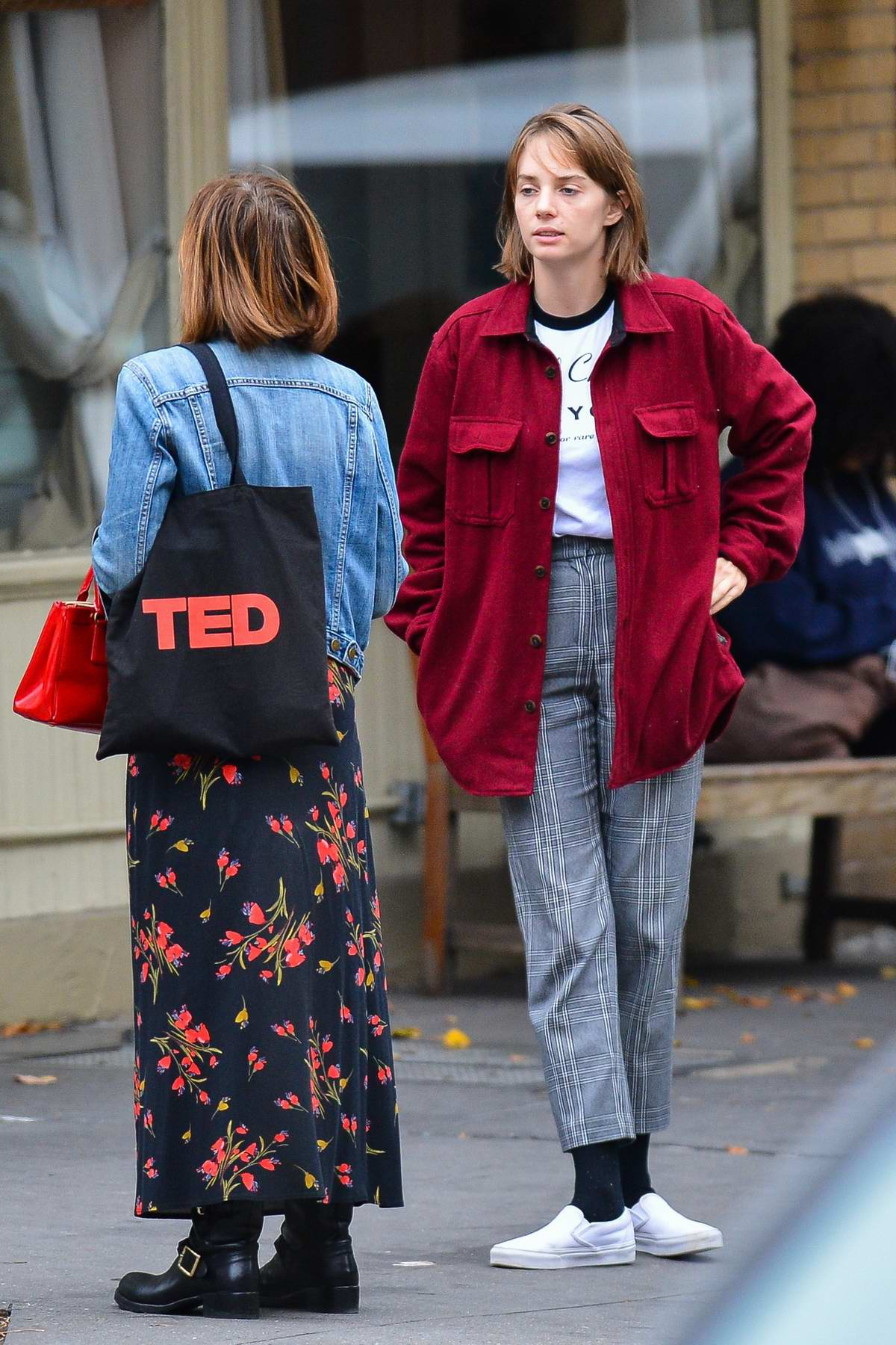 Maya Hawke keeps it casual as she steps out with a friend in New York City