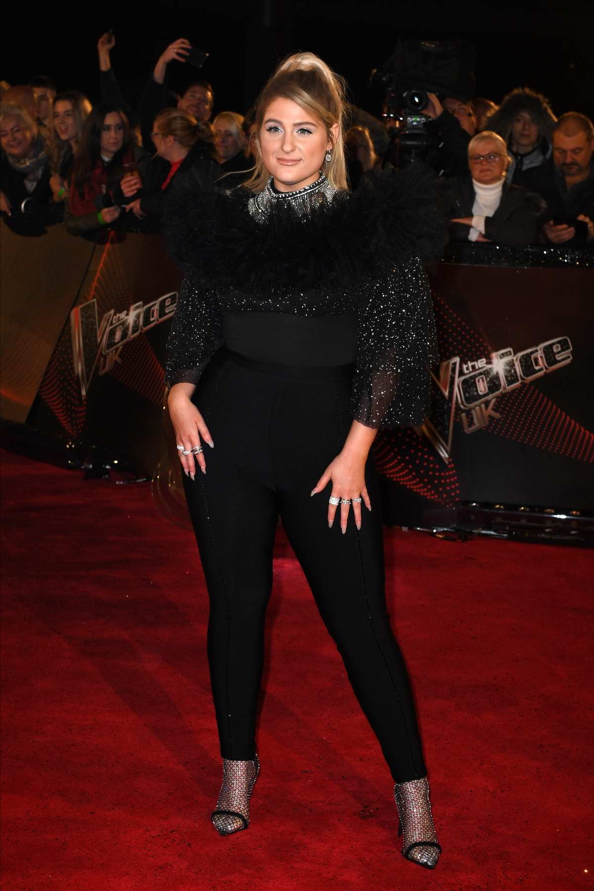 Meghan Trainor attends 'The Voice' UK Blind Auditions at Studio's MediaCityUK in Manchester, UK