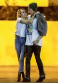 Miley Cyrus and Cody Simpson pack on the PDA during a date night in Studio City, Los Angeles