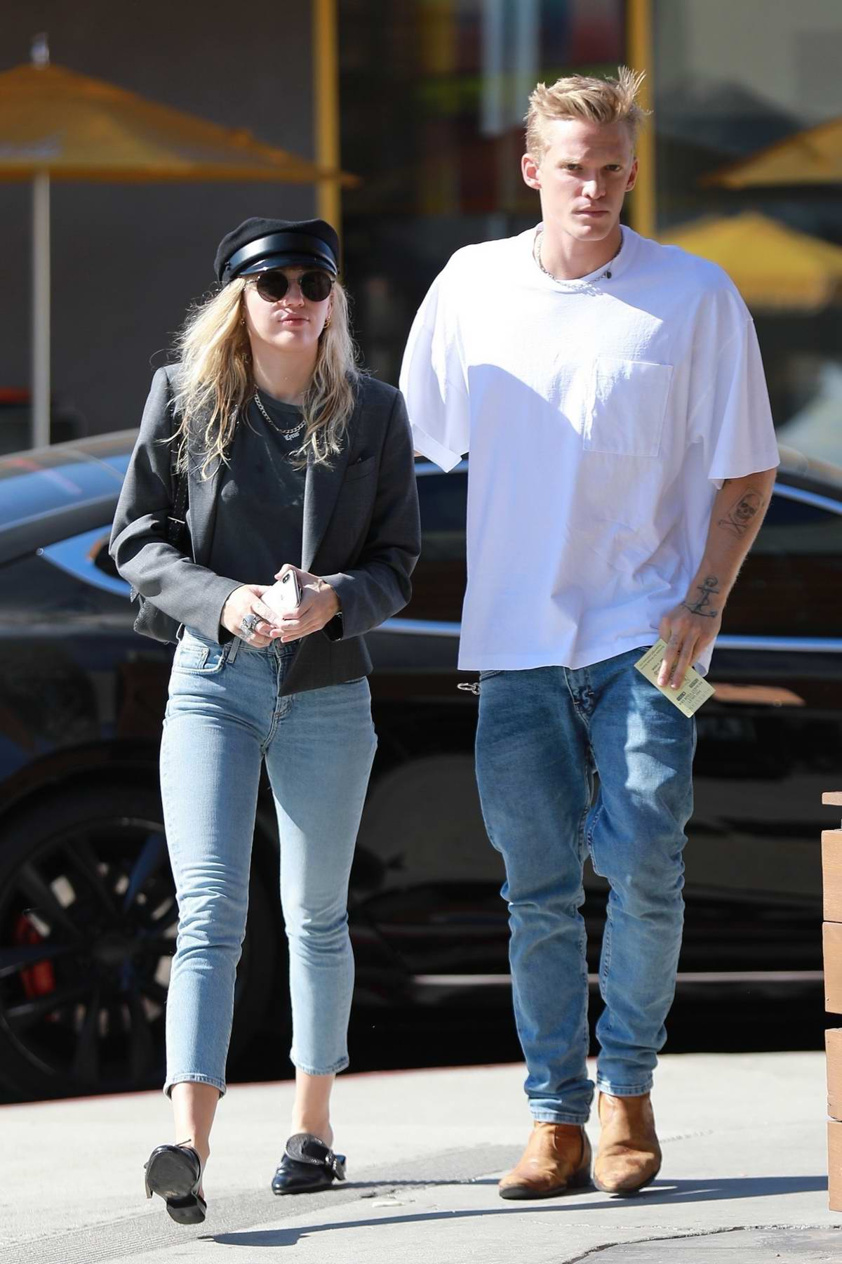 Miley Cyrus and Cody Simpson start their week with a lunch date in Los Angeles