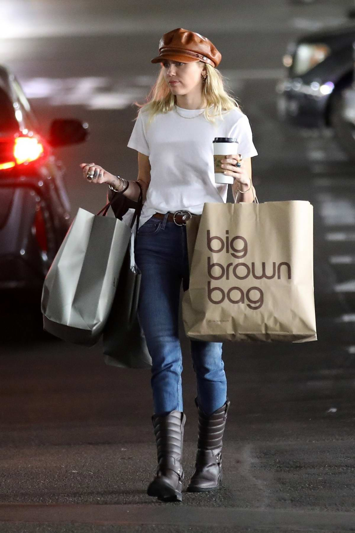 Miley Cyrus and Cody Simpson spotted during a coffee run at Blue Bottle Coffee in Studio City, Los Angeles