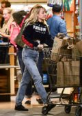 Miley Cyrus spotted as she stocks up on groceries at Whole Foods in Sherman Oaks, California