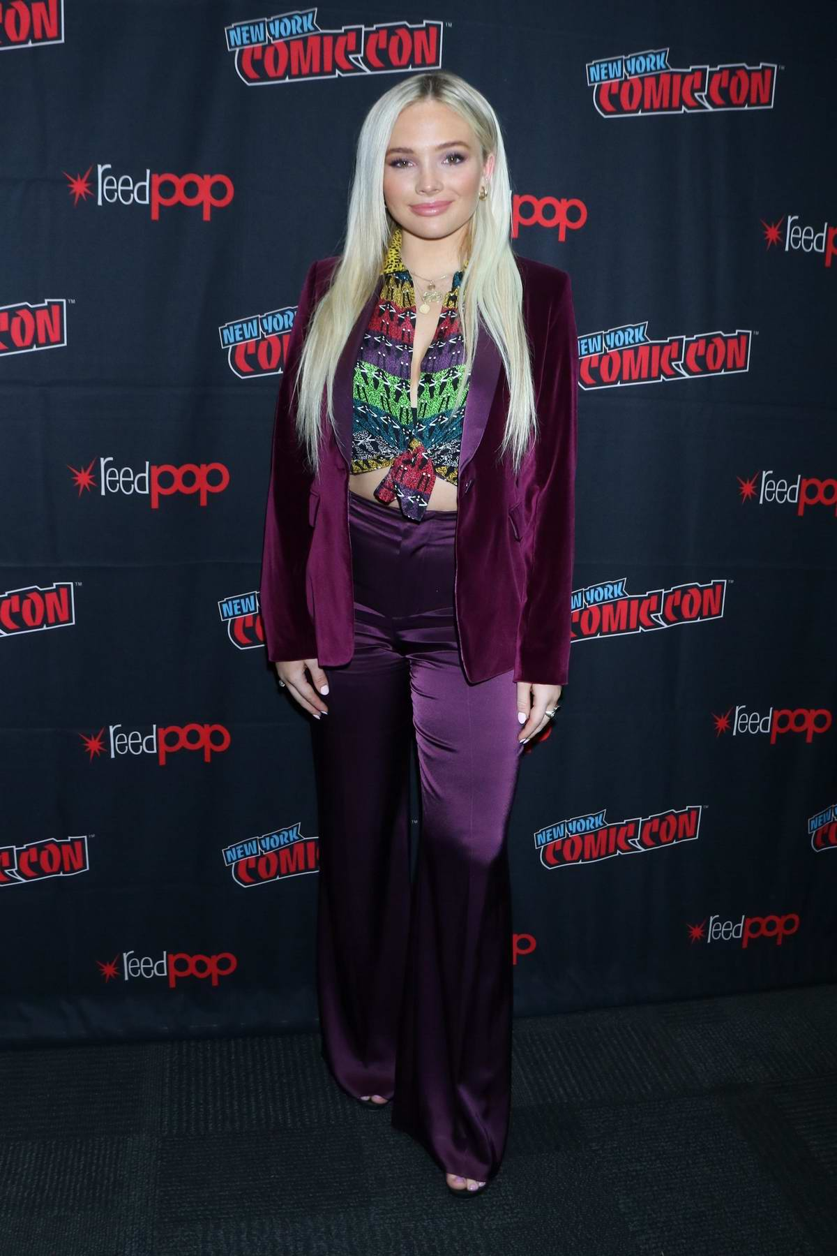 Natalie Alyn Lind attends the press room for 'Tell Me a Story' during New York Comic Con 2019 in New York City