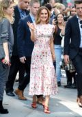 Natalie Portman is all smiles while visiting AOL Build Series in New York City