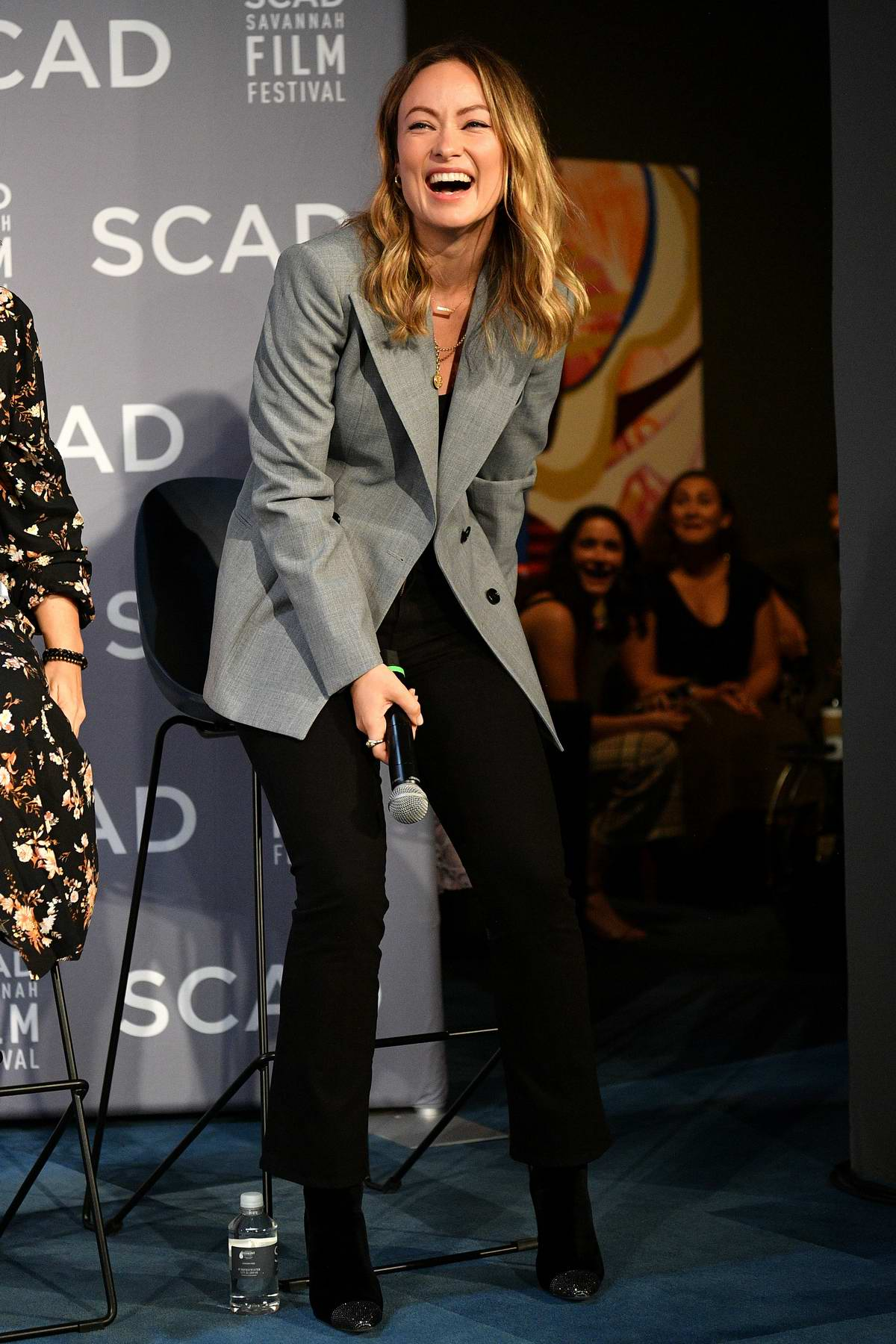 Olivia Wilde attends the Wonder Women: Directors panel at the 22nd SCAD Savannah Film Festival in Savannah, Georgia