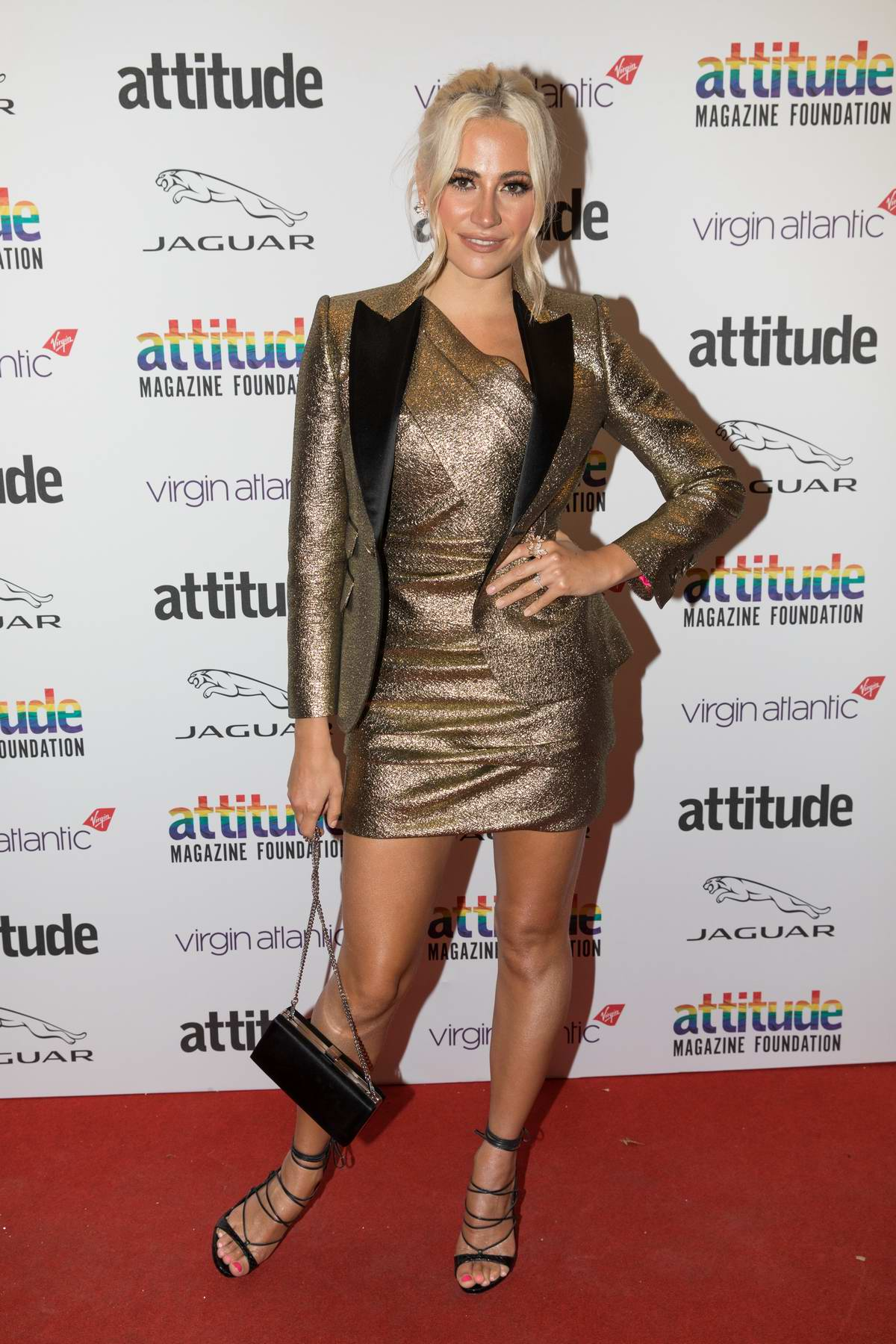 Pixie Lott attends the Virgin Atlantic Attitude Awards 2019 at The Roundhouse in London, UK