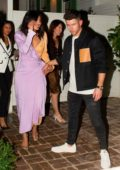 Priyanka Chopra and Nick Jonas leave an event at the San Vicente Bungalows in West Hollywood, Los Angeles