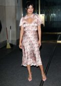 Priyanka Chopra dons a pink floral dress as she visits the 'Today' Show in New York City