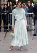 Priyanka Chopra looks stylish in a mint green velvet dress as she leaves 'The View' in New York City