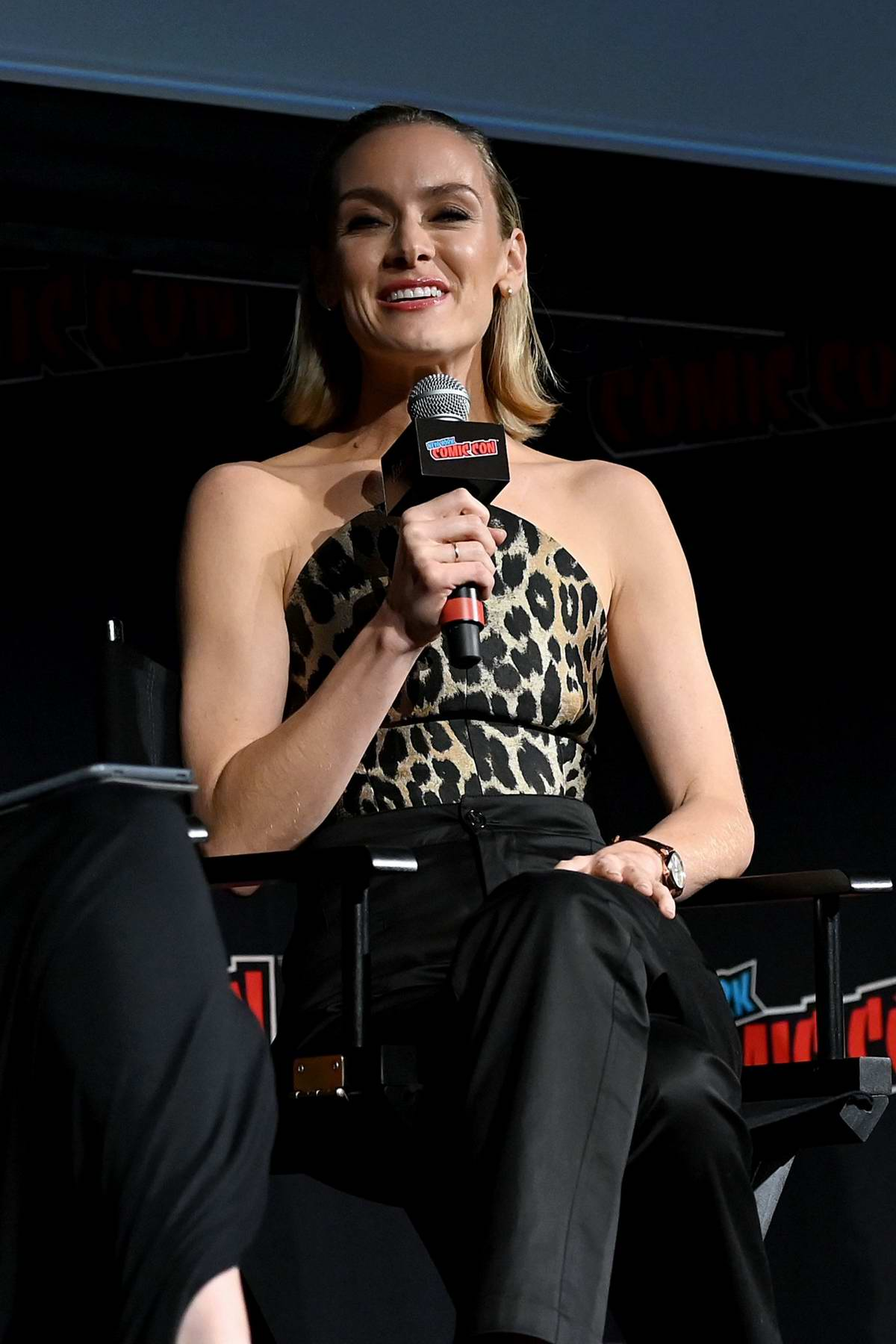 Rachel Skarsten speaks on stage during Batwoman Pilot Screening and Q&A during 2019 New York Comic Con in New York City