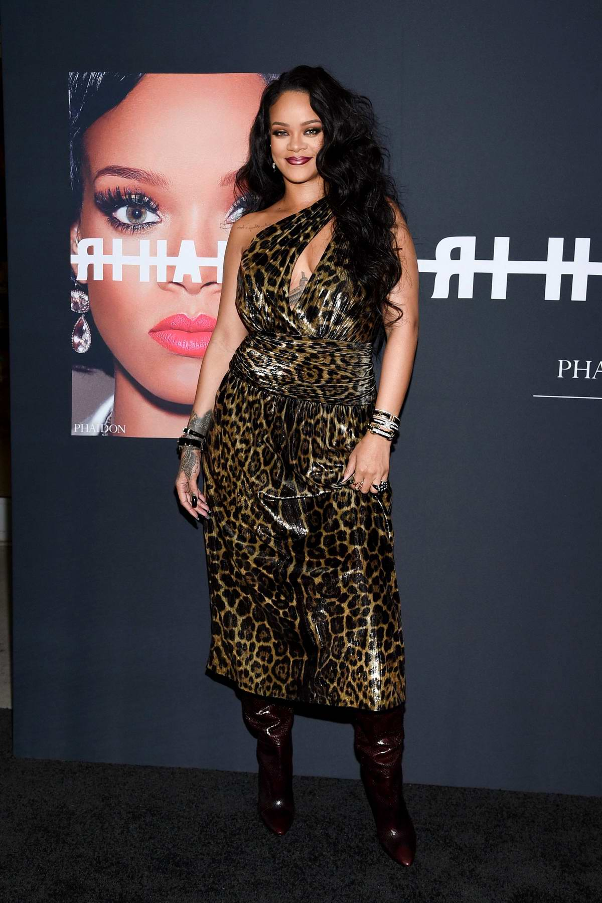 Rihanna attends the launch of her first visual autobiography 'Rihanna' at Guggenheim Museum in New York City