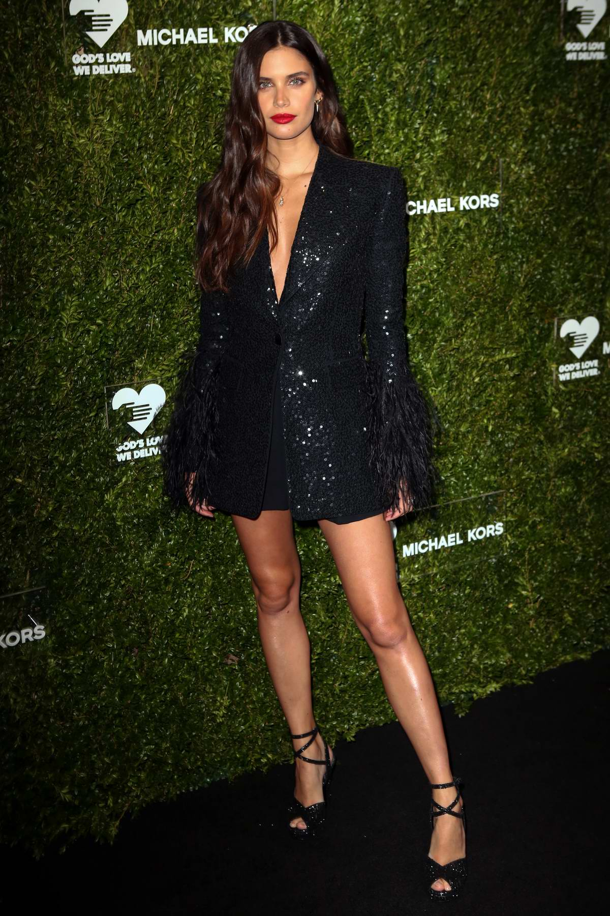 Sara Sampaio attends God's Love We Deliver 13th Annual Golden Heart Awards Celebration at Cipriani South Street in New York City