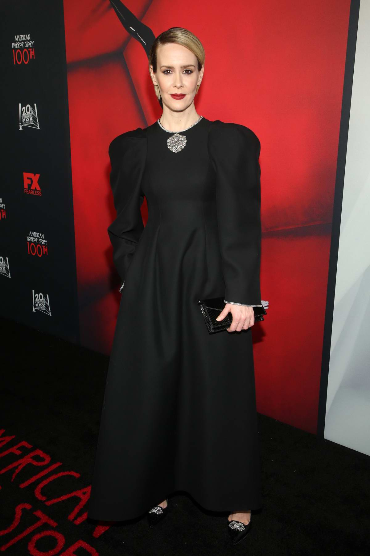 Sarah Paulson attends FX's 'American Horror Story' 100th Episode Celebration at Hollywood Forever in Los Angeles