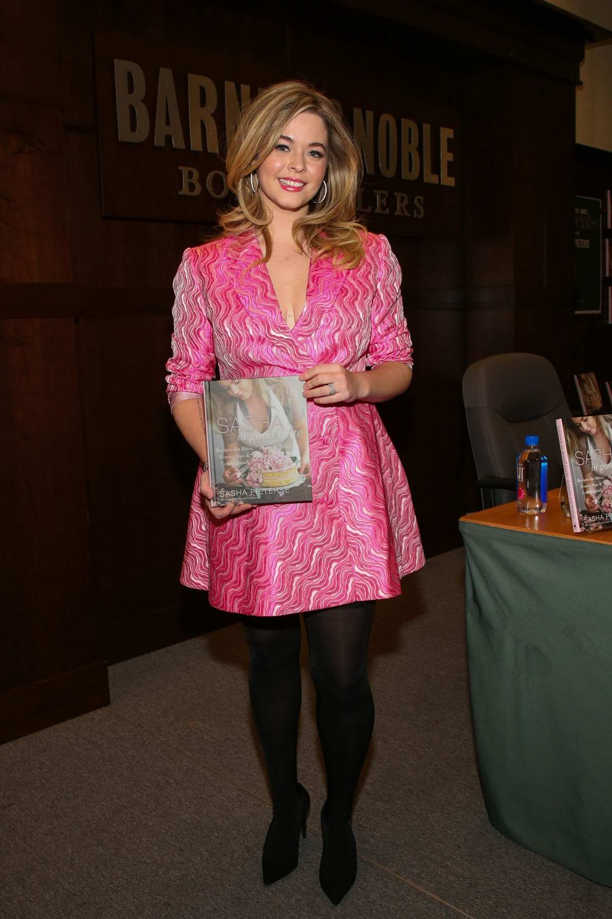 Sasha Pieterse attends a signing event for her new book 'Sasha In Good Taste' at Barnes & Noble at The Grove in Los Angeles