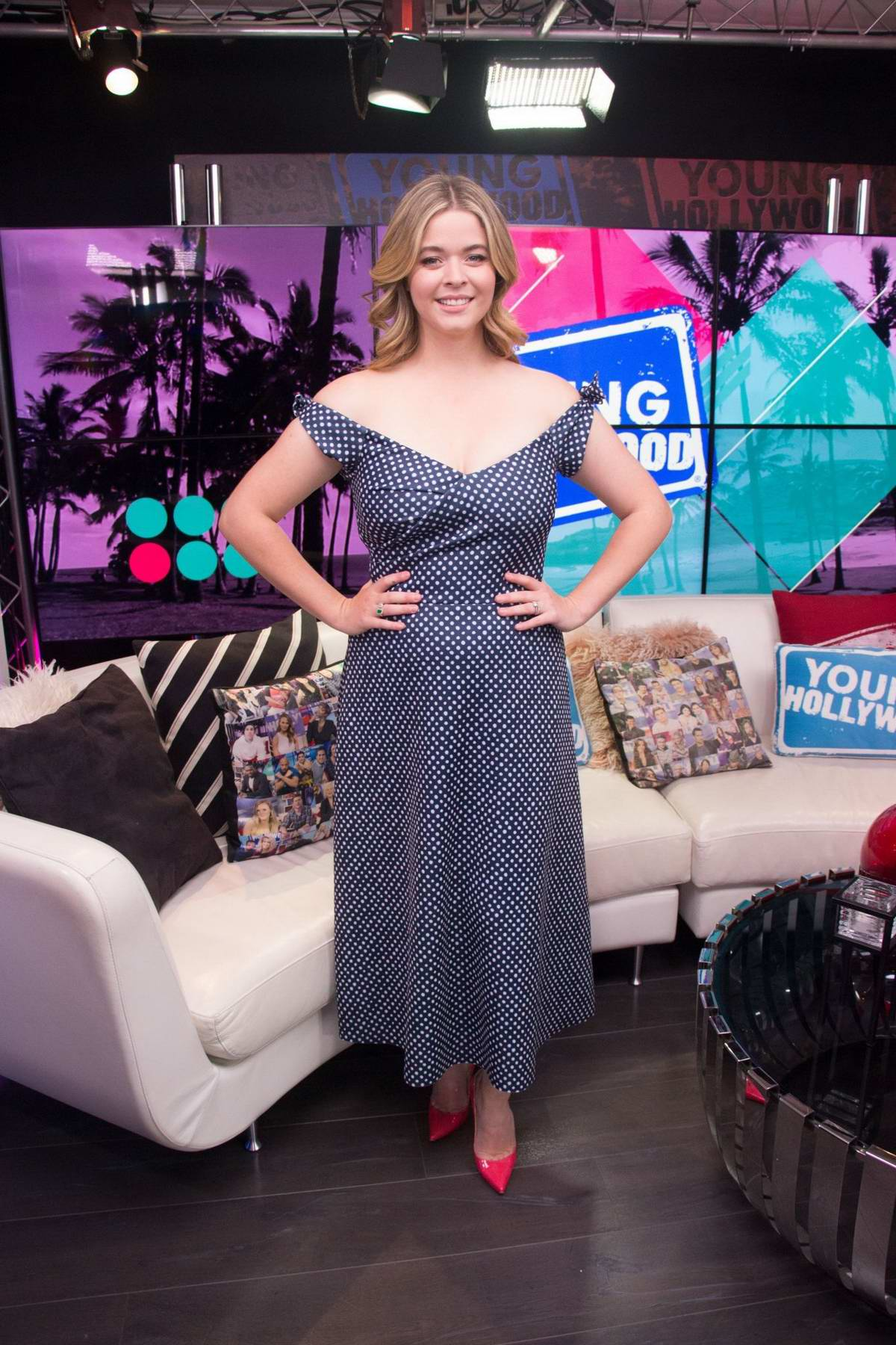 Sasha Pieterse promotes her book 'Sasha In Good Taste' at Young Hollywood Studio in Los Angeles