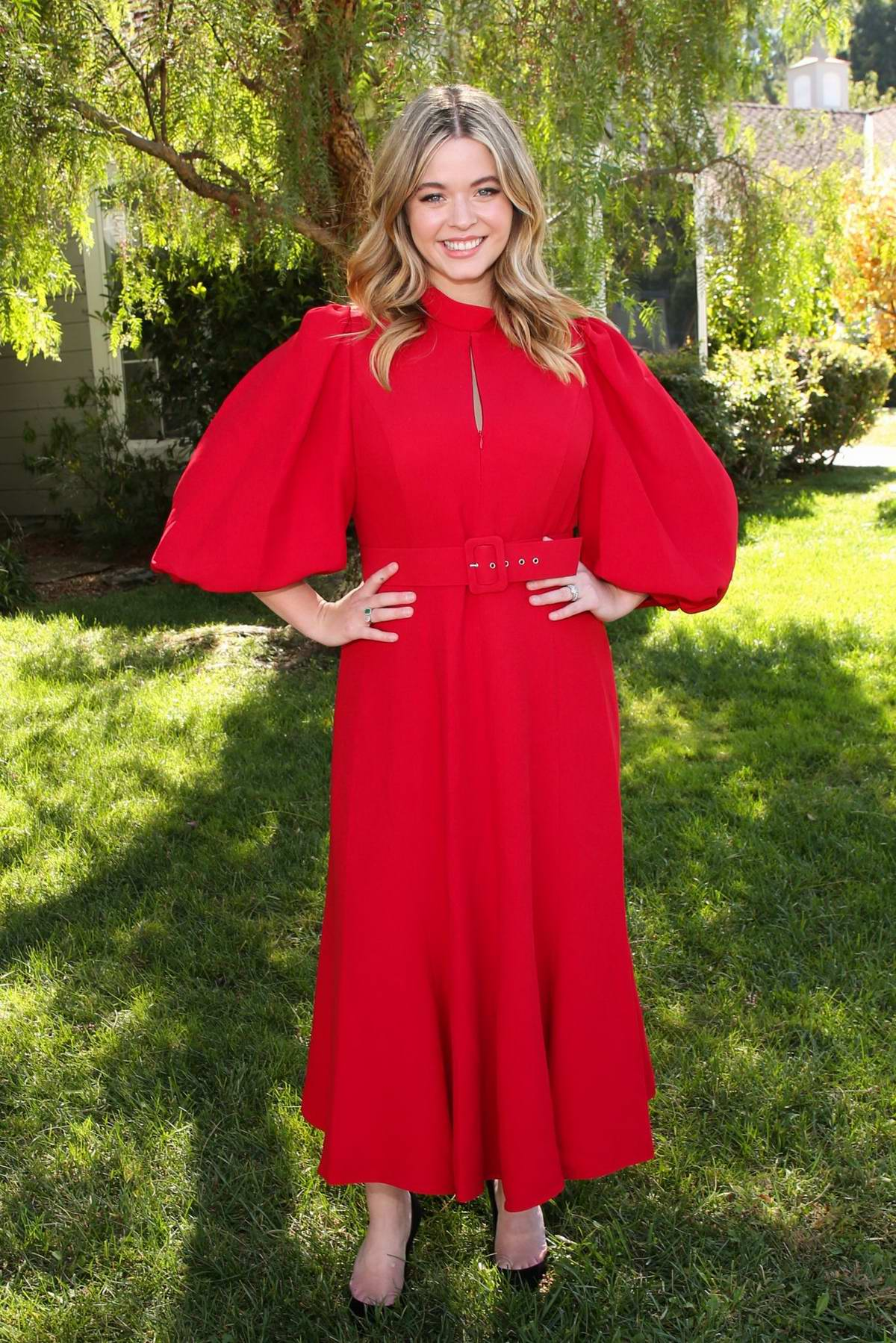 Sasha Pieterse visits Hallmark Channel's 'Home & Family' at Universal Studios Hollywood in Los Angeles